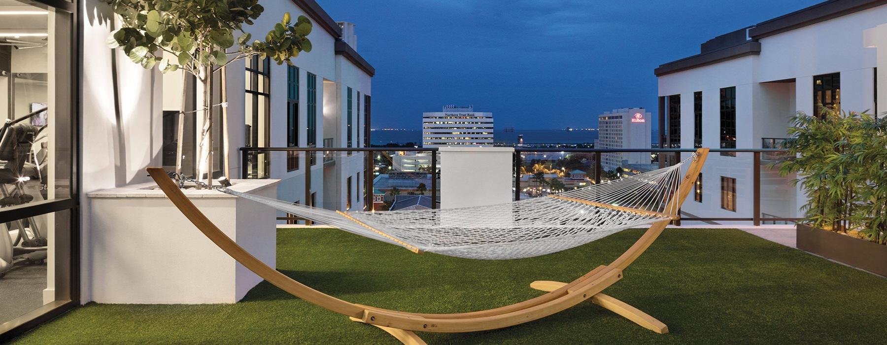 rooftop hammock